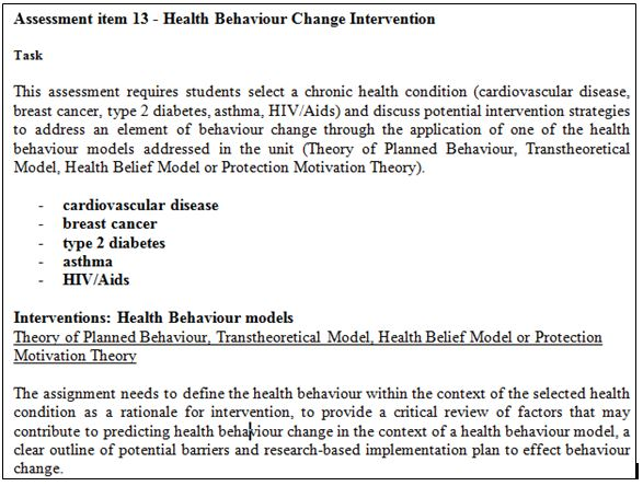 health psychology assessment question