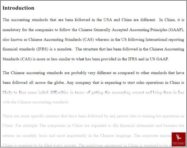 international accounting homework sample solution