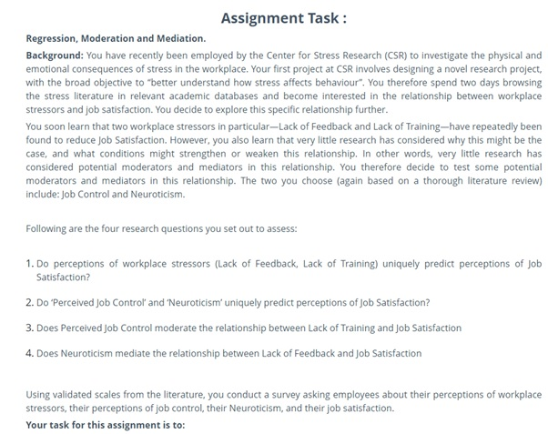 multiple regression analysis using spss sample assignment task