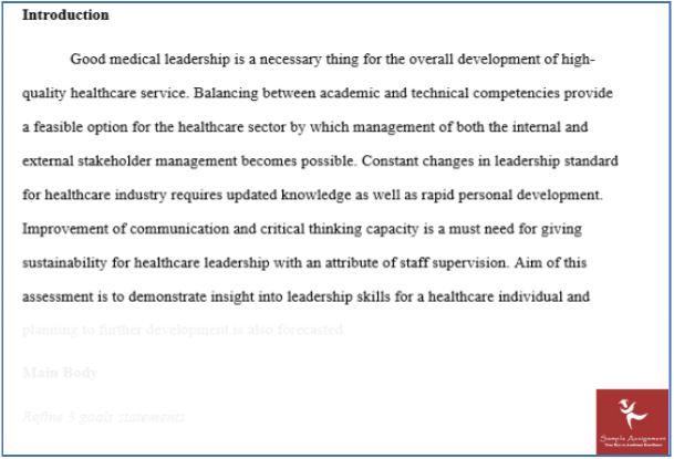 online leadership in healthcare assessment
