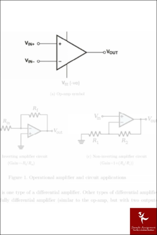 operational amplifiers academic assistance through online tutoring sample solution