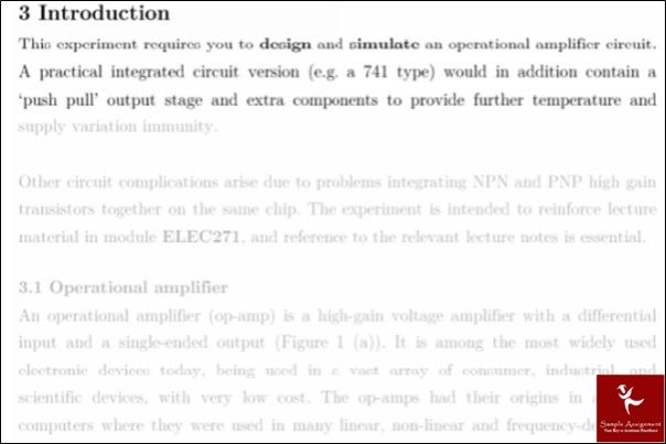 operational amplifiers academic assistance through online tutoring sample solutions