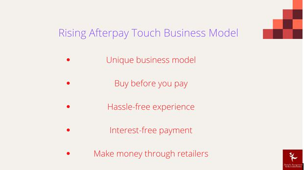 rising afterpay touch business model