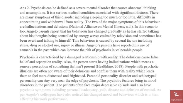 schizophrenia dissertation help assignments sample solution