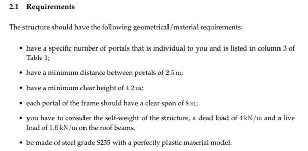 seismic design requirement