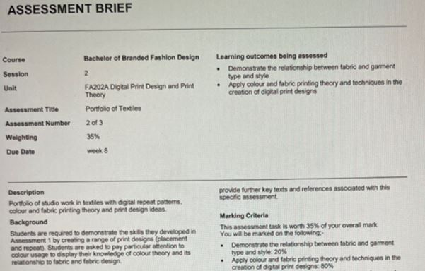 textile engineering academic assistance through online tutoring assessment brief
