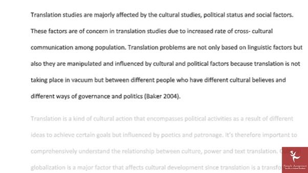 translation and interpreting studies sample