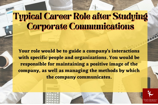 typical career role after studying corporate communication