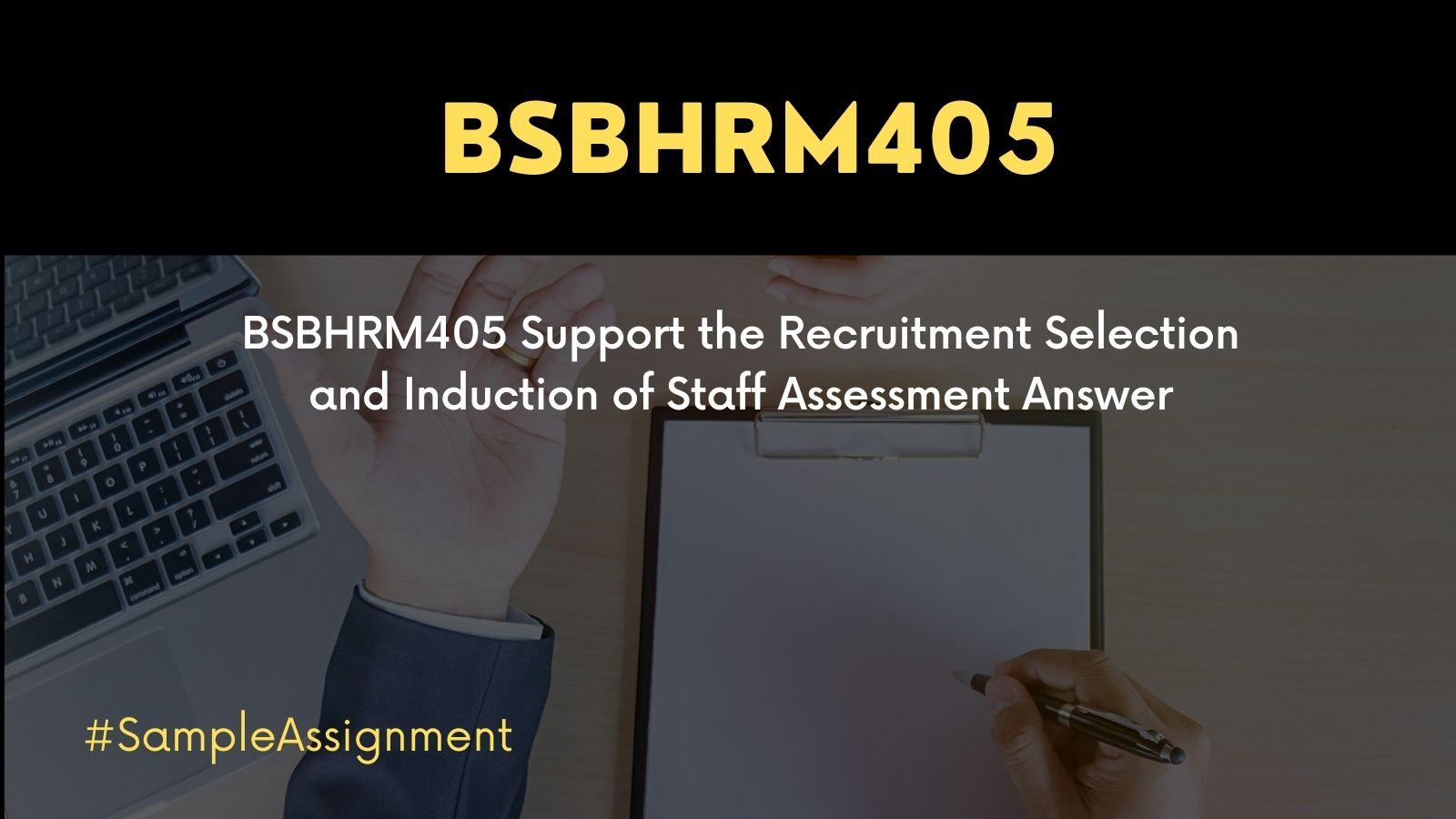 BSBHRM405