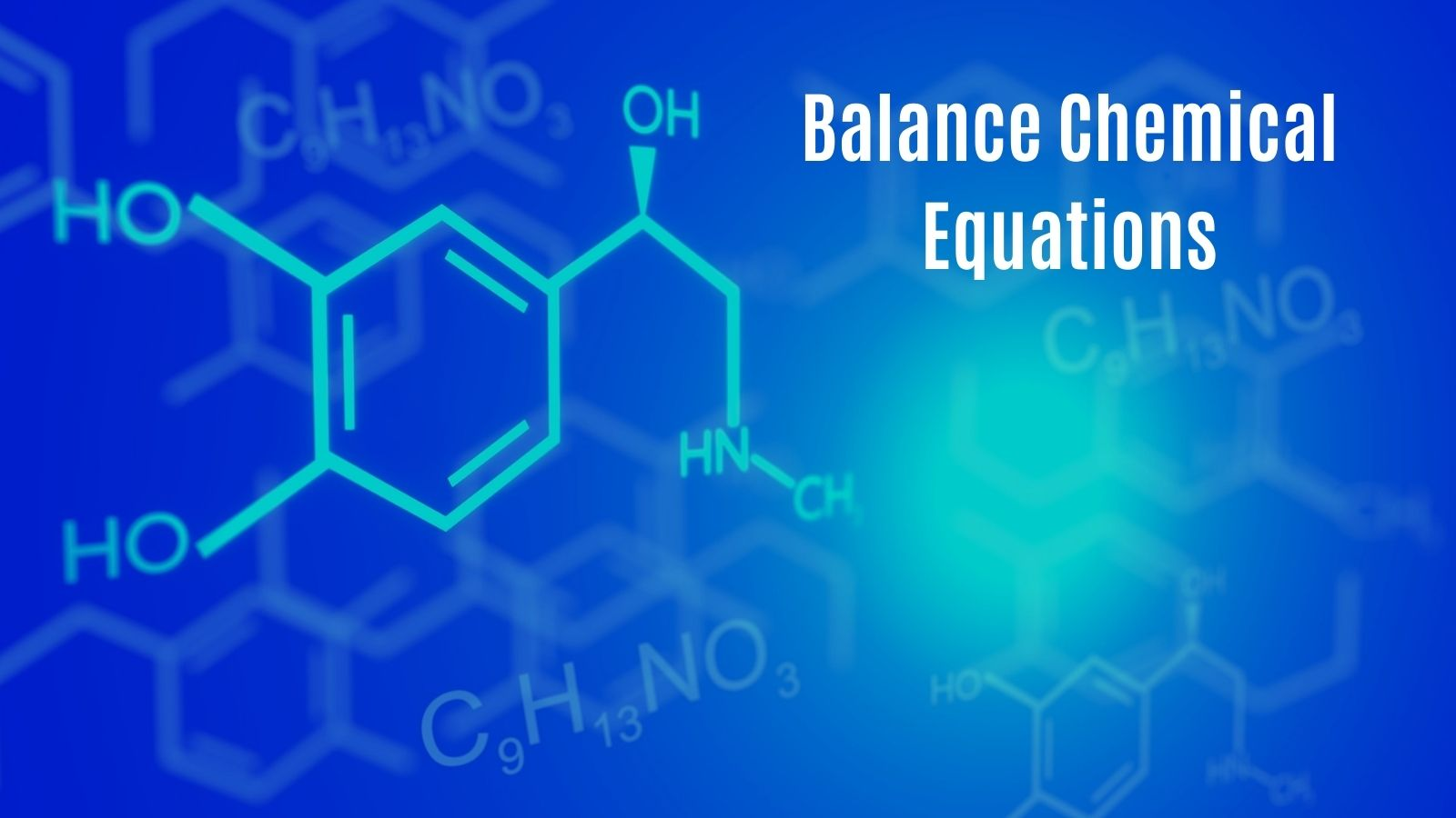 balance chemical equation